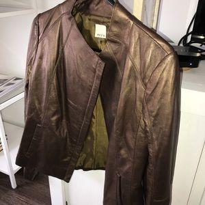 Bronze Leather  jacket / blazer